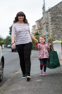Launch of Zero Waste Bute, Scotland's second Zero Waste Town (and the world's first Zero Waste Island). Pic shows... Rothesay residents Amy & Niamh (4). More info from Sarah Stuart, Zero Waste Scotland 07715 066461.