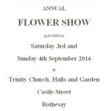 Flower Show 3-4 September 2016