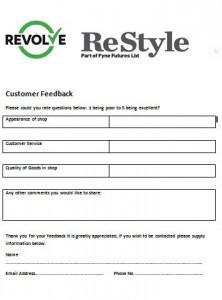 Feedback form for Webpage